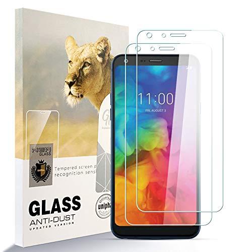 Asoway zidwzidwei Bildschirmschutzfolie Panzerglas für LG Q7 [2er Pack] HD-Hartglasfolie Anti-Fingerabdruck Blasenfrei Leicht zu Installieren, 9H Festigkeit Glasschutzfolie Schutzfolie fürLG Q7