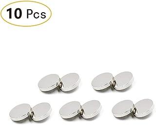 Healifty Lot de 100 Boutons Pression /à Coudre en m/étal 10 mm