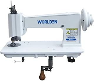 Handle Operated Single Needle Chain Stitch Embroidery Machine - Replacement Vintage Cornely Singer 114w103 - Universal Feed Designs Chainstitch & Moss Stitch