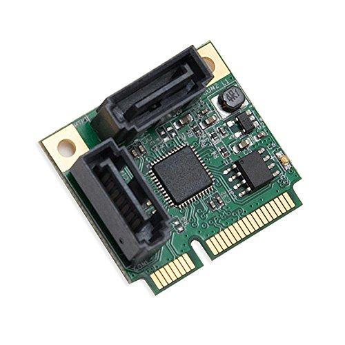Mini PCIe to SATA III 2 Ports Raid Adapter Card ASMedia 1061R for Ipfs Mining and Adding SATA 3.0 Devices