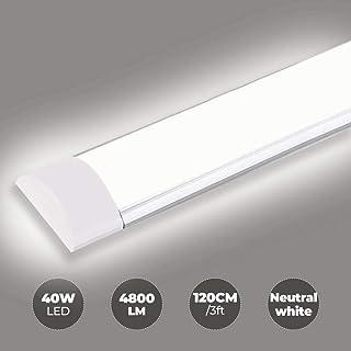 Plafoniera Led Prismatico 120cm 36W 220V Bianco Freddo 6400K IP65 Tri Proof Slim S-Series V-TAC SKU-6470