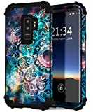 Hocase Galaxy S9 Plus Case, SM-G965 Case, Heavy Duty Protection Shockproof Silicone Rubber+Hard Plastic Hybrid Dual Layer Protective Phone Case for Samsung Galaxy S9 Plus 2018 - Mandala in Galaxy
