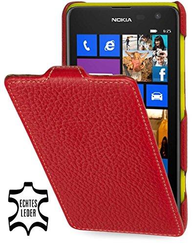 StilGut, Esclusiva Custodia UltraSlim in Vera Pelle per Nokia Lumia 625, Rosso
