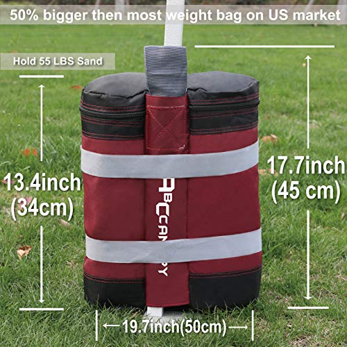 ABCCANOPY Industrial Grade Weights Bag Leg Weights for Pop up Gazebo Tent, Patio Umbrella, Outdoor Furniture, 4pcs-Pack