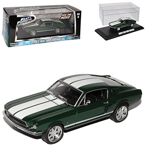 Greenlight Ford Shelby Mustang Eleanor Sean´s 1967 Grün Fast and Furious 1/43 Modell Auto mit individiuellem Wunschkennzeichen