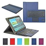CoastaCloud Funda con Teclado Bluetooth Teclado Bluetooth Inalámbrico 3.0 QWERTY Español con Multi Touchpad - Compatible 9-10.6 Pulgadas...