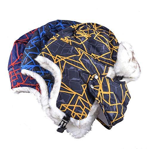 Sombrero de esquí 1pc Unisex Bomber Hat Mujeres Sombreros De Invierno para Hombres Máscara Cap Adultos Triciclo Orejeras Hueso Casual Color Cálido Póngase En Contacto con El Vendedor