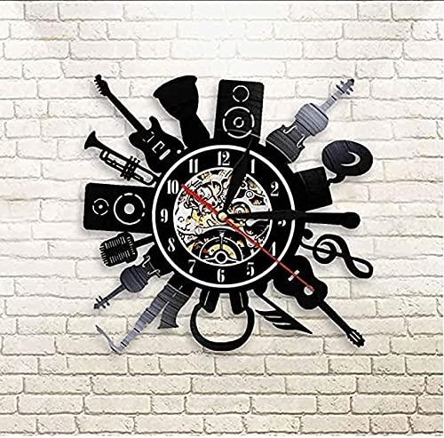 SHILLPS Guitarra eléctrica decoración del Arte de la Pared Reloj de Pared...