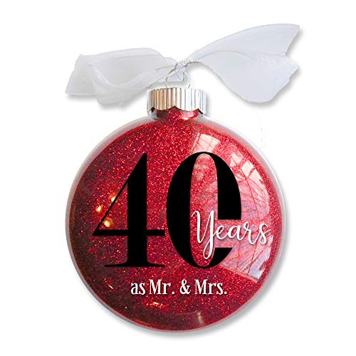 Firefly Wishes 40th Wedding Anniversary Christmas Ornament, Gift for Married Couple