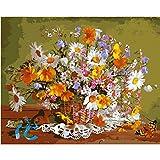 Blumenkorb Gänseblümchen Blume Diy Digitales Ölgemälde Moderne Wandkunst Leinwand Malerei Einzigartiges Geschenk Home Decoration