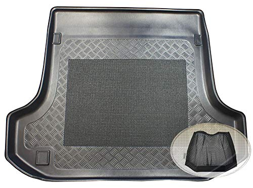 ZentimeX Z3033845 Antirutsch Kofferraumwanne fahrzeugspezifisch + Klett-Organizer (Laderaumwanne, Kofferraummatte)