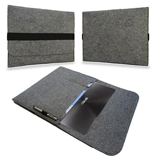 UC-Express Tasche Notebook 13,3 Zoll Hülle Schutzhülle Ultrabook Filz Case Cover Sleeve Bag, Farben:Helles Grau, Notebook:Blaupunkt Endeavour 1013
