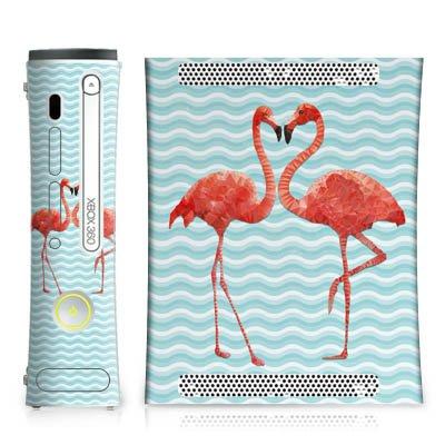 DeinDesign Skin kompatibel mit Microsoft Xbox 360 Folie Sticker Flamingo Sommer Pool