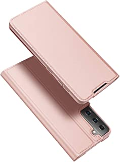 DUX DUCIS Galaxy S21+ 5G Case, Galaxy S21+ Plus Wallet Case, Genuine Leather Flip Magnetic Book Design Credit Card Holder ...