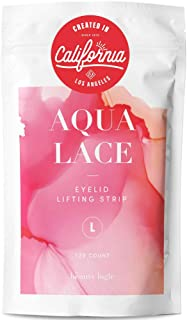 Beauty Logic USA Ultra Invisible Aqua Lace Eyelid Lift Kit 120pcs, Self Adhesive Blends In with Skin No Glare Non Surgical...