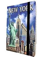 ニューヨーク市限定カラフルフォトメモ帳 自由の女神エンパイアステートニューヨークスカイラインお土産ノート