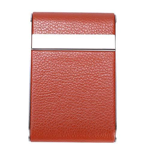 Omabeta Conception légère Taille raisonnable Étui à Cigarettes à la Mode Étui à Cigarettes Organisateur de Stockage de Cigarettes pour la Prise d'allume-Cigare Carte d'identité Carte(Orange)