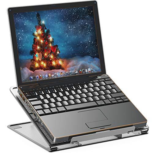 SimpleHouseware Laptop-Ständer aus Netzstoff, belüftet, verstellbar, Schwarz