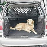 Brownrolly - Organizador de red para asiento trasero de coche, red de seguridad para vehículos, barrera de seguridad para perros, protección de aislamiento de seguridad para SUV/coche/camión/furgoneta