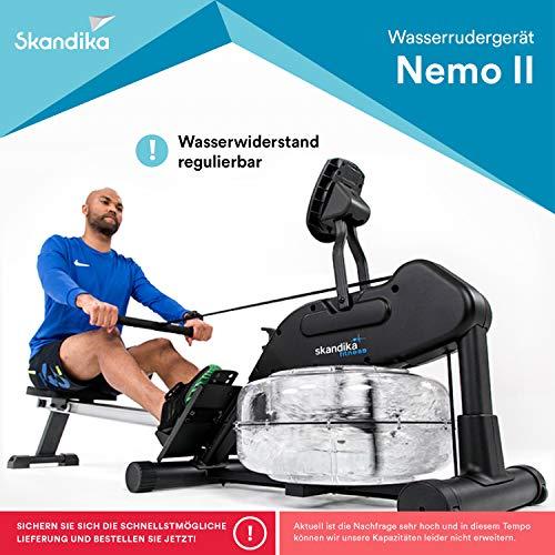 skandika Nemo II Aqua Rower Liquid Rowing Machine with Adjustable Water Resistance & LCD display, Foldable, SF-1750