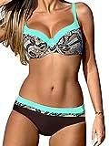Yuson Girl Bikini Sets Damen, Bademode Push Up Bikinis Sexy Badeanzug Bikinis für Frauen L