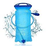 KIPIDA - Bolsa de hidratación de 2 litros, con válvula de mordedura, depósito de agua a prueba de fugas, bolsa de hidratación de PEVA, para senderismo, ciclismo, montañismo, camping