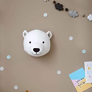 Baby Head Wall Decor Stuffed Animal Wall Mount Elephant Bunny Head Wall Decoration|deer Head Wall Decoration Wall Hanging - Faux Taxidermy Animal Head Wall Decor Ins Style Custom Children's Baby Room