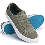 JENN ARDOR Womens Canvas Sneaker Shoes Fashion Slip on Low Tops Shoes Casual Shoes Comfortable