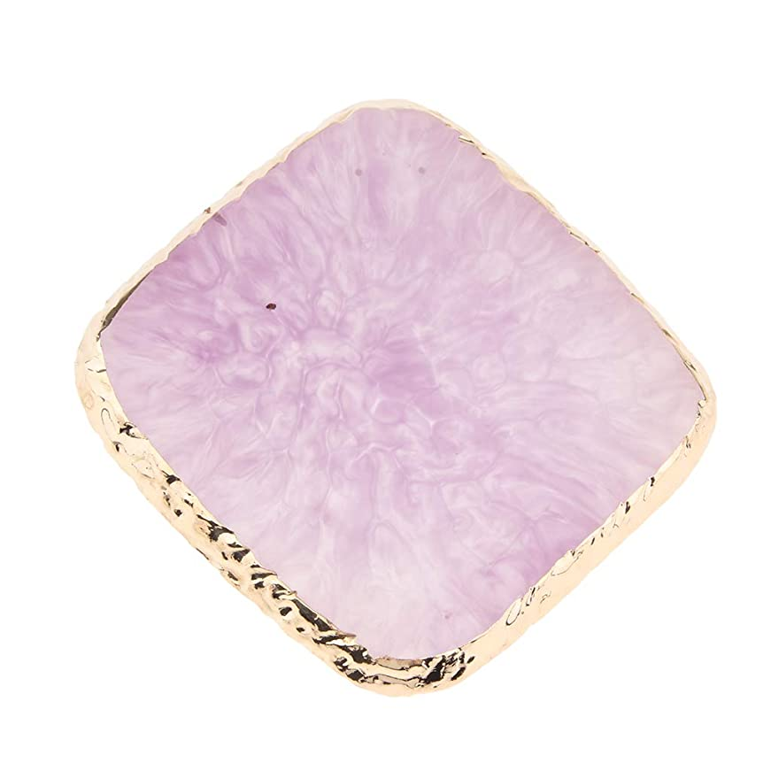 障害歪める導出D DOLITY 顔料パレット 絵皿 人工瑪瑙スライス コースター ネイルアートパレット 水彩絵具 全3カラー - 紫の
