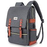 """JDHDL Unisex College Bookbag 15.6"""" Gift Travel Business Vintage Backpack"""