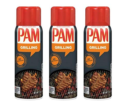 PAM Grilling No-Stick Cooking Spray, 7 oz (3)