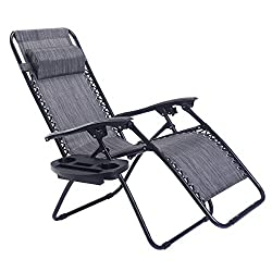 Goplus Folding Zero Gravity Reclining Lounge Chair