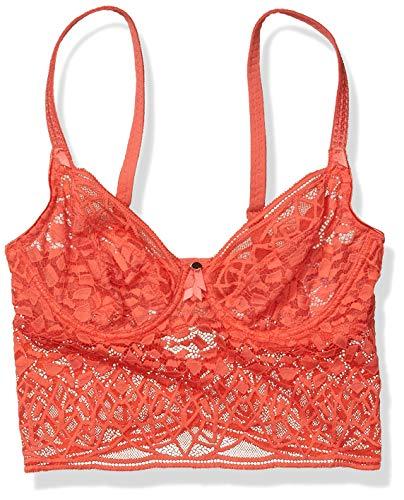 Freya Women's Soiree Lace Longline Underwire Bralette Bra, Coral, 32E