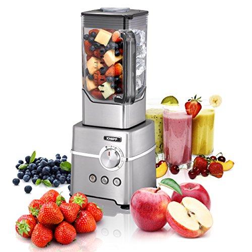KHAPP Standmixer für Smoothies, Shakes und Babynahrung, Mixer mit Ice Crush Funktion, Smoothie Maker mit 2.5 PS (2000 Watt) für bis zu 32.000 Umdrehung pro Minute