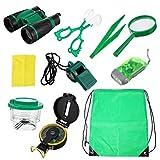 VORCOOL Kit de Aventura al Aire Libre para niños Kit de exploración para niños Totalmente Equipado Juego de Juguetes para Acampar para niños Outdoor Props