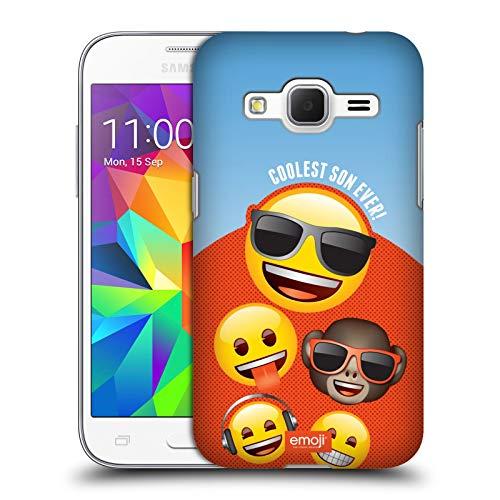 Head Case Designs Ufficiale Emoji Il Figlio più Cool Festeggiamenti Cover Cover Dura per Parte Posteriore Compatibile con Samsung Galaxy Core Prime