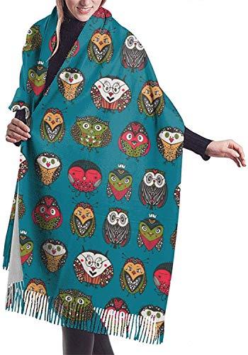 Bufanda de cachemira colorida para mujer, bufanda de invierno, bufanda clásica con borla, manta grande, mantón de San Valentín