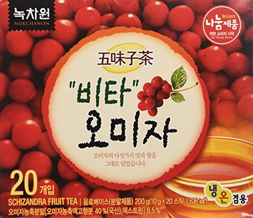 [Nokchawon] 100% Organic Oriental TEA selections from Korea Schizandra fruit tea 20T