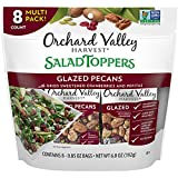 Contains 8 - 0.85 ounce packs of Glazed Pecans Salad Toppers Glazed pecans with dried sweetened cranberries and pepitas Orchard Valley Harvest is dedicated to finding pure and simple nuts and dried sweetened fruit that support your active lifestyle A...