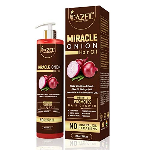 Dazel - The Skin Pulse Onion Hair Oil for Men and Women, 200 ml