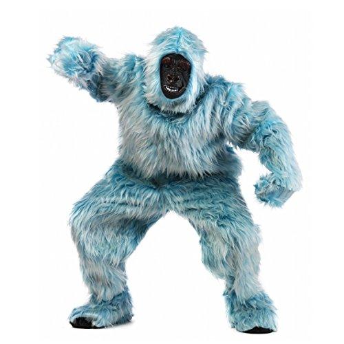 Yeti Gorilla Deluxe Kostüm eisblau (Medium)