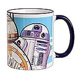 Elbenwald Star Wars Tasse Droiden Trio Motiv Rundumdruck zu Episode IX The Rise of Skywalker Keramik...