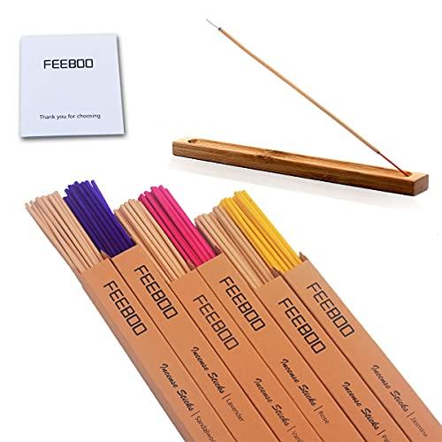 Natural 100% Incense Sticks And Holder Set 120 Sandalwood Lavender Vanilla Patchouli For Meditation Yoga Scents Sticks Rose Jasmine