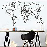 Mapa del mundo moderno pegatina de pared vinilo dormitorio Art Deco pegatinas de pared decoración de habitación de niños sala de estar nuevo diseño de papel tapiz