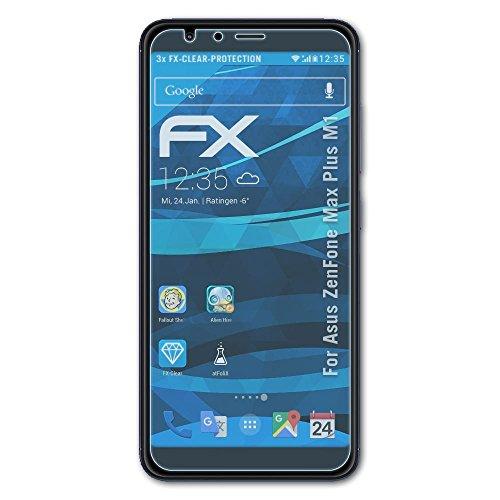atFolix Schutzfolie kompatibel mit Asus ZenFone Max Plus M1 Folie, ultraklare FX Bildschirmschutzfolie (3X)