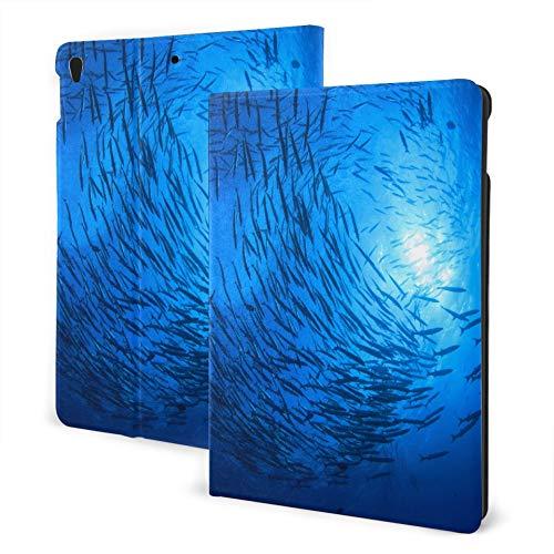 JIUCHUAN Ipad Case Protection 2019 Ipad Air3/2017 Ipad Pro 10.5 Inch Case/2019 Ipad 7th 10.2 Inch Case School Barracuda Fish Scuba Divers Ipad Case Protective Kids Auto Wake/sleep