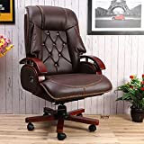 DZYN Furnitures Galician Luxury Recliner Office/Gaming Chair/High Back Office Chair with Any Position Lock/Big and Tall Director Chair/CEO Chair/Boss Chair (Premium Brown)