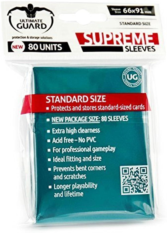 Supreme Petrol Blau Sleeves (80) by Ultimate Guard