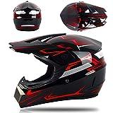 buetr casco integrale per moto elettrico casco integrale casco integrale con tuta a tre pezzi-rosso ghost_s