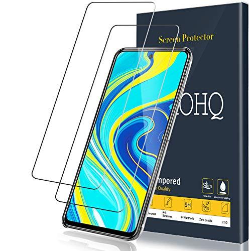 QHOHQ Panzerglas für Xiaomi Redmi Note 9S/Redmi Note 9 Pro, [2 Stück] [9H Festigkeit] HD Transparent Anti-Kratzen [Blasenfrei] Schutzfolie